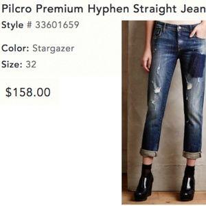 Pilcro Premium Hyphen Straight Jean - Size 32